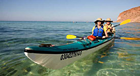 Kayaking Baja from Espiritu Santo island