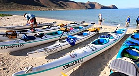 Sea Kayaks during Baja trip